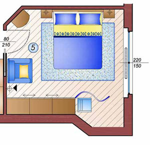 Come arredare la camera da letto ristrutturare casa for Arredare camera da letto di 10 mq